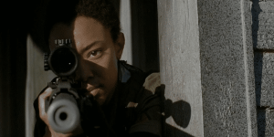 """Sasha snipes walkers approaches the walls of Alexandria in """"Try"""""""
