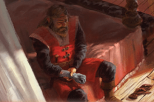 The Griff Jon Connington from A Song of Ice and Fire Greyscale artwork by Fantasy Flight