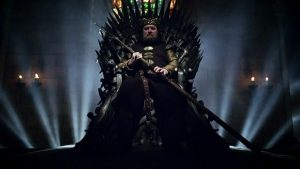 Robert Baratheon the Usurper on the Iron Throne from Game of Thrones