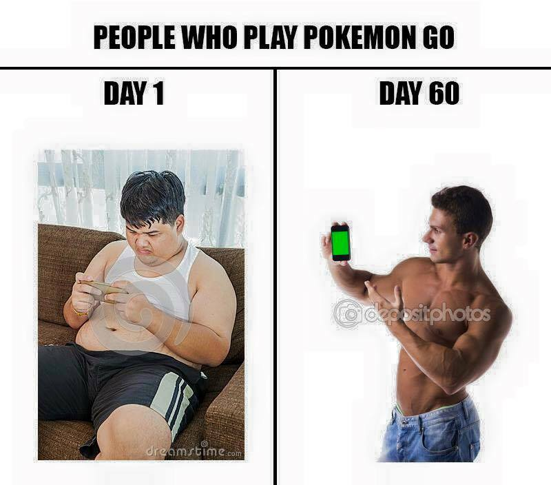 People who play pokemon go in shape
