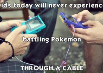 Kids today won't experience battling pokemon through a cable meme