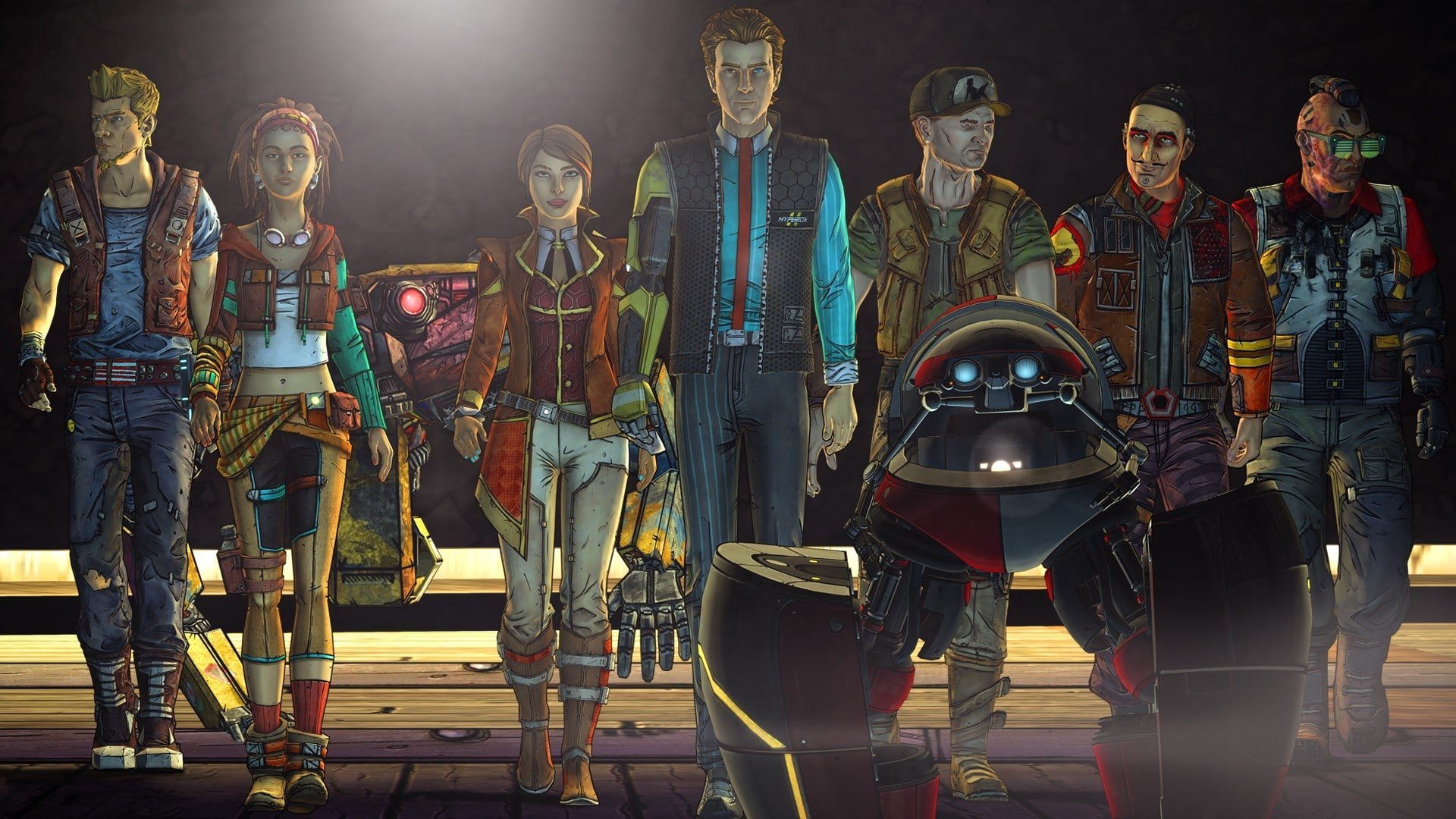 group walking in tales from borderlands