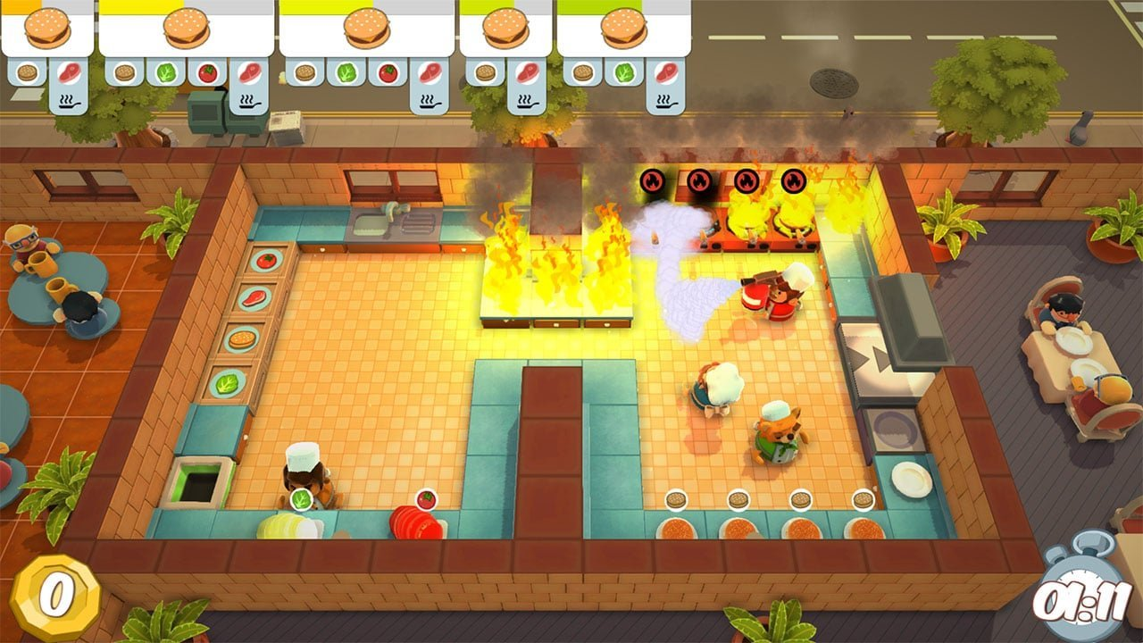 Overcooked Kitchen Fire